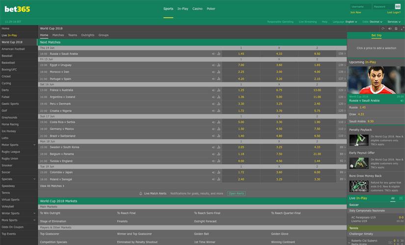 bet365 screenshot