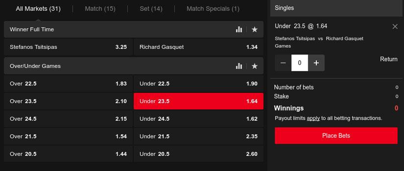 tennis totals bet